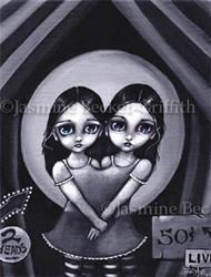 Art: Live Two Headed Girl by Artist Jasmine Ann Becket-Griffith