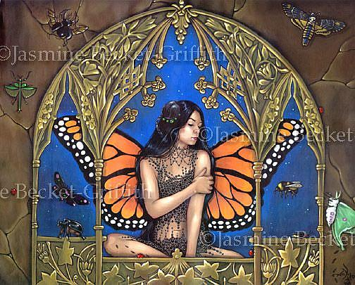 Art: Queen of Insects by Artist Jasmine Ann Becket-Griffith