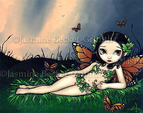 Art: Fairy Odalisque by Artist Jasmine Ann Becket-Griffith