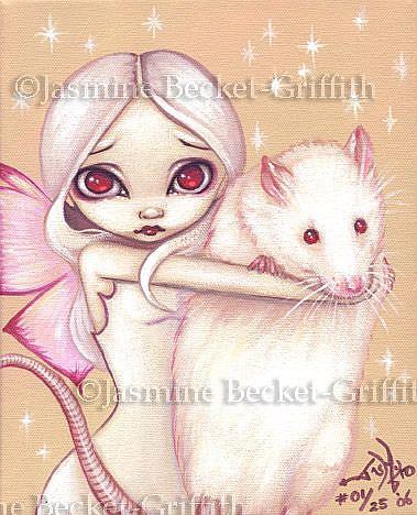Art: A Beautiful Rat by Artist Jasmine Ann Becket-Griffith
