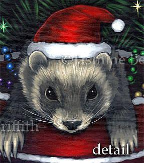 Christmas Ferret.Christmas Ferrets By Jasmine Ann Becket Griffith From