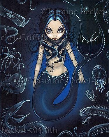 Art: Mermaid of the Deep by Artist Jasmine Ann Becket-Griffith
