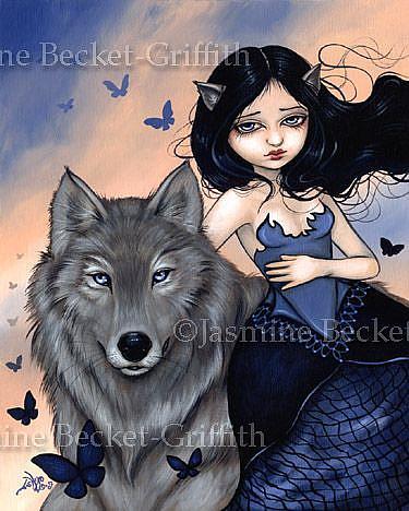 Art: Silver Wolf by Artist Jasmine Ann Becket-Griffith