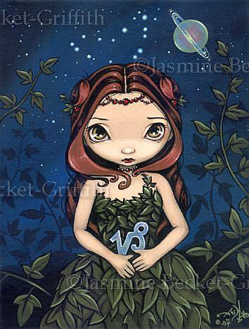 Art: Capricorn by Artist Jasmine Ann Becket-Griffith
