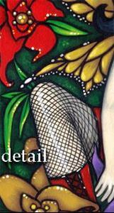 Detail Image for art Fishnets & Flowers