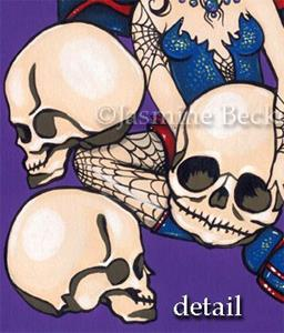 Detail Image for art Spiders and Skulls