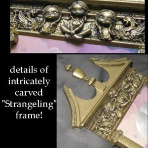 Detail Image for art Angel in Lilac - with original Strangeling Frame