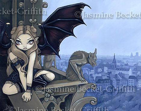 Art: The Secret of Notre Dame for SALE in my eBay store! by Artist Jasmine Ann Becket-Griffith