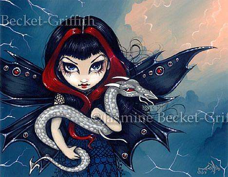 Art: Waiting Out the Storm by Artist Jasmine Ann Becket-Griffith