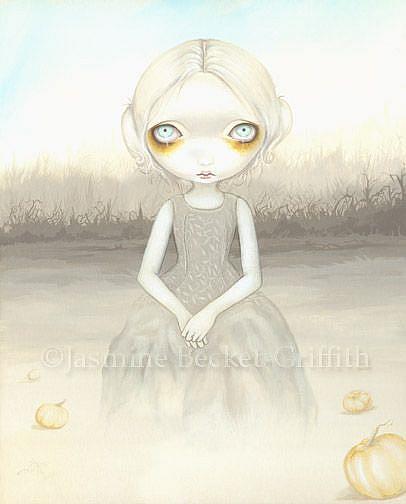 Art: Ghost of the Pumpkin Patch by Artist Jasmine Ann Becket-Griffith