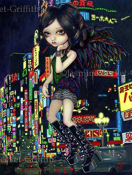 Art: Shinjuku Angel by Artist Jasmine Ann Becket-Griffith