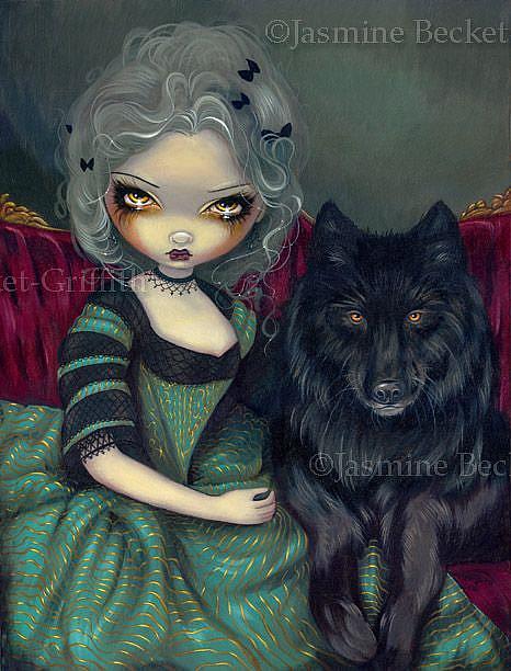 Art: Loup-Garou:  Noir by Artist Jasmine Ann Becket-Griffith