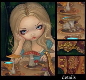 Detail Image for art Steampunk Alice in Wonderland:  Alice and the Mad Hatter