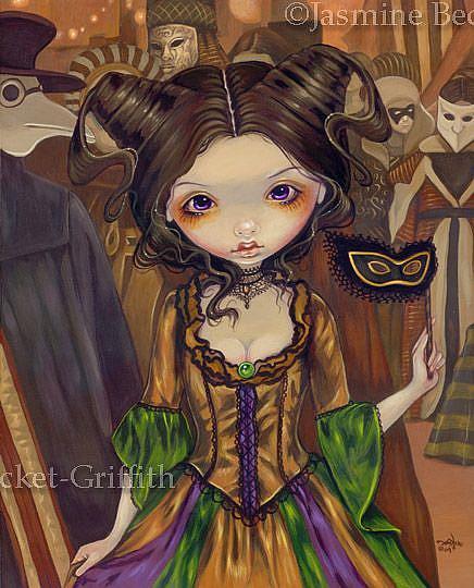 Art: At the Masquerade Ball by Artist Jasmine Ann Becket-Griffith