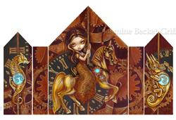 Art: Steampunk Carousel by Artist Jasmine Ann Becket-Griffith