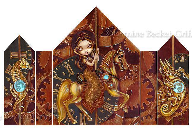 Art: Steampunk Carousel by Artist Jasmine Ann Becket-Griffith