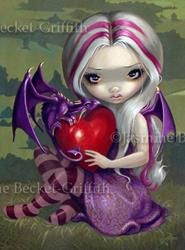 Art: Valentine Dragon by Artist Jasmine Ann Becket-Griffith