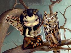 Art: Owlyn by Artist Jasmine Ann Becket-Griffith