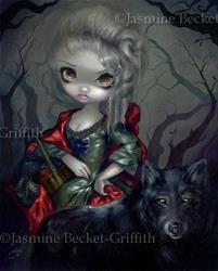 Art: Loup-Garou: Le Petit Chaperon Rouge by Artist Jasmine Ann Becket-Griffith