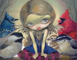 Art: Backyard Birds by Artist Jasmine Ann Becket-Griffith