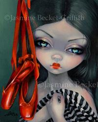 Art: The Red Shoes by Artist Jasmine Ann Becket-Griffith