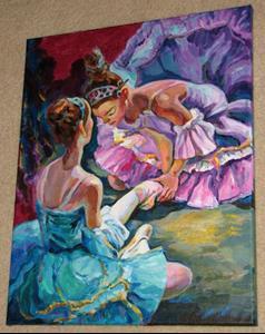 Detail Image for art Ballerina's hard work