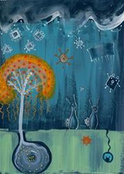 Art: Invasion of the Bunny Snatchers by Artist Sherry Key
