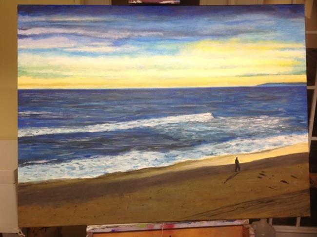 Art: Sunrise walk by Artist Drita Harris