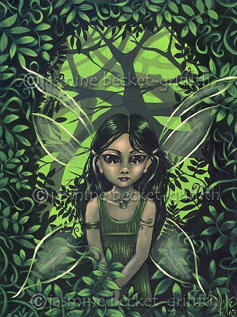 Art: A Jungle Faerie by Artist Jasmine Ann Becket-Griffith