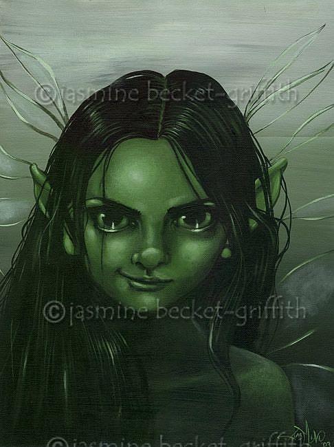 Art: A Smirking Faerie by Artist Jasmine Ann Becket-Griffith