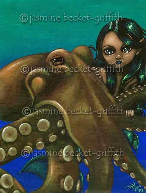 Art: An Octopus Friend by Artist Jasmine Ann Becket-Griffith