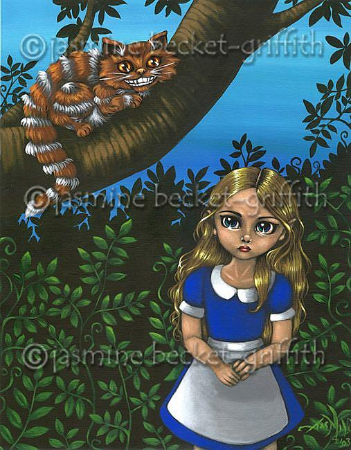 Art: Alice and the Cheshire Cat by Artist Jasmine Ann Becket-Griffith
