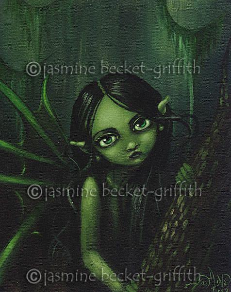 Art: Swamp Beauty by Artist Jasmine Ann Becket-Griffith