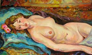 Detail Image for art Relaxed nude female