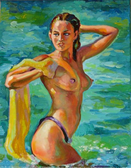 Art: Bather by Artist Luda Angel