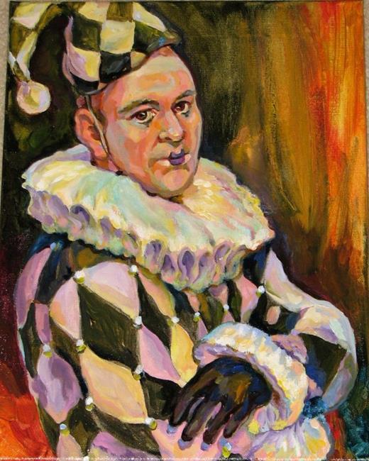 Art: Actor dressed by Clown by Artist Luda Angel