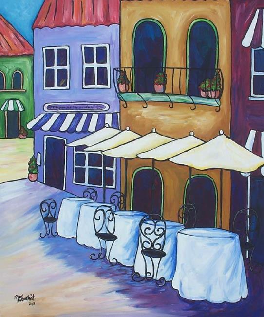 Art: Brunch at the French Cafe by Artist Melanie Douthit