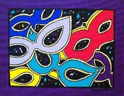 Art: Mardi Gras Mask Madness by Artist Melanie Douthit