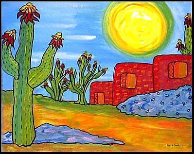 Art: But it's a DRY HEAT by Artist Doris H. David