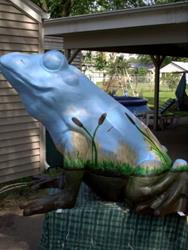 Art: Self-Contained Swamp Frog by Artist Leanne Wildermuth