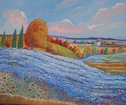 Art: Field of Lavender by Artist Virginia Kilpatrick