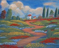 Art: Ruelle De Jardin by Artist Virginia Kilpatrick