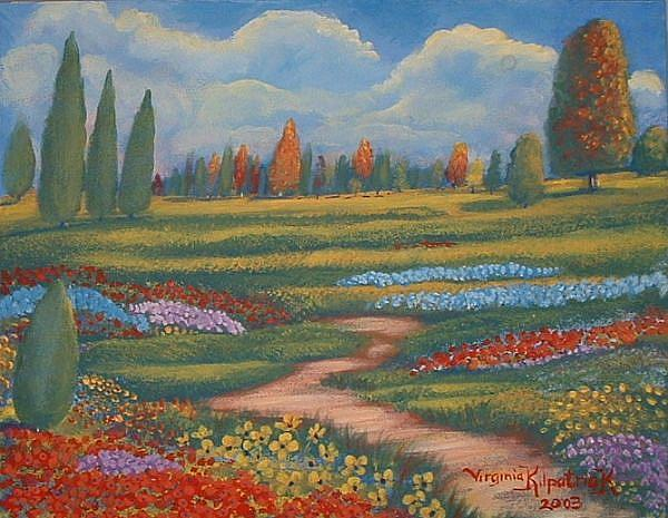 Champs Des Fleurs By Virginia Kilpatrick From Plein Air Landscapes Art Gallery