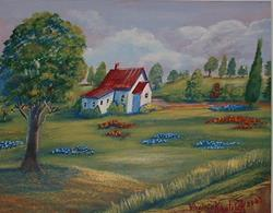 Art: House in The Hills by Artist Virginia Kilpatrick