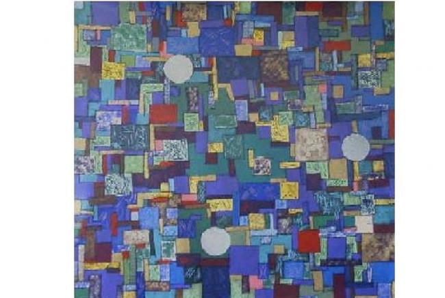 Art: FRISCO BAY BLUES (sold) by Artist Dawn Hough Sebaugh