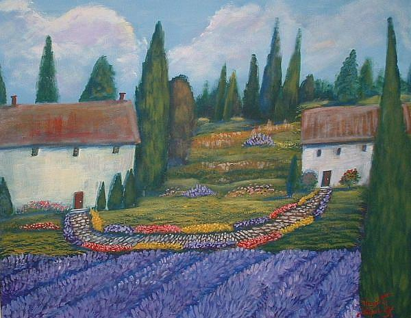 Art: Vue De Lavande by Artist Virginia Kilpatrick