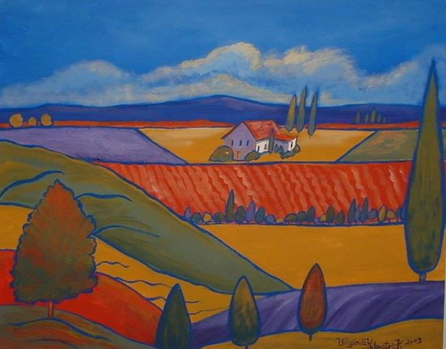 Art: Vue De Hilltop by Artist Virginia Kilpatrick