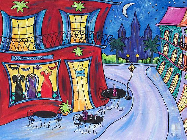 Art: Le Boutique and Cafe by Artist Melanie Douthit