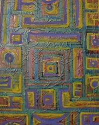 Art: Abstract Squares by Artist Virginia Kilpatrick