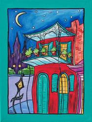 Art: New Orleans Iron Balconies by Artist Melanie Douthit